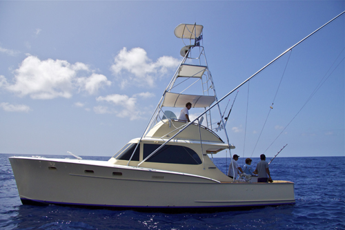 beautiful sportfishing boat