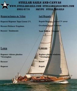Sail repair in Costa Rica